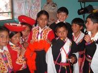 Children in traditional dress