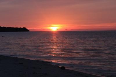 Scenic ocean view of sunset in Cambodia at Projects Abroad placement