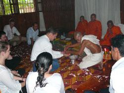 Ceremony with the monks