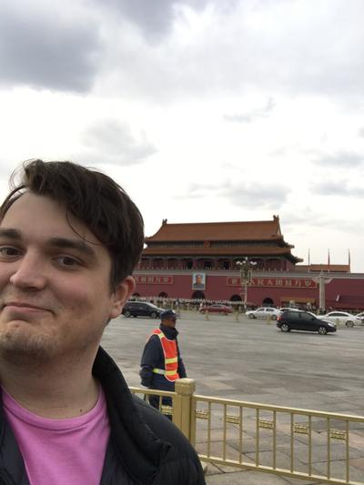 Jonathan exploring China during his free time