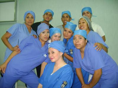 Volunteers and medical students