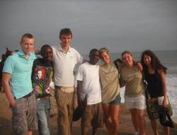 Volunteer group on the beach