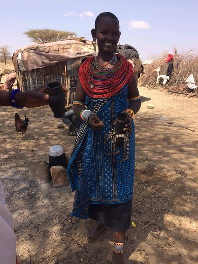 A woman from the Maasai community