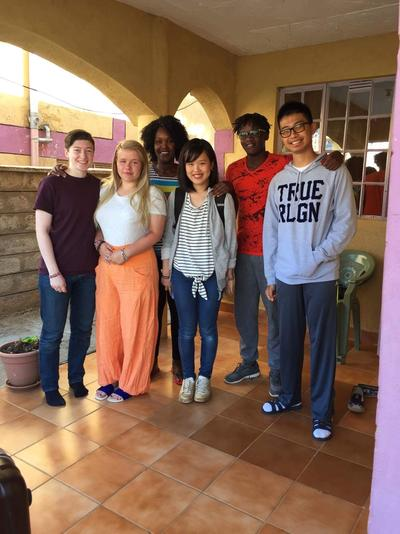 High School Special volunteers with their host family