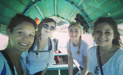 Volunteers during a weekend trip to Zanzibar
