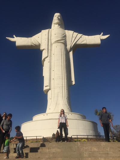 Visiting the Cristo de la Concordia statue