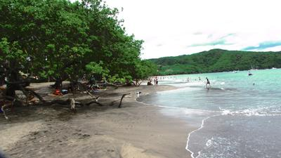 A local beach in Costa Rica