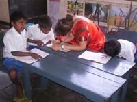 Working with the children