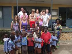 Our group with local kids