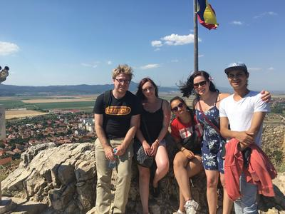 Volunteers take some time to explore Romania