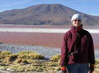 Freezing myself on the shores of Laguna Colorado Bolivia