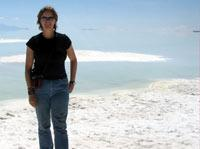 Myself at the edge of the largest salt flat in the world Salar de Uyuni