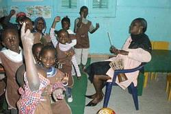 Dancing at Ecole Maternelle du Nord