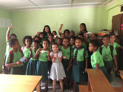 Fijian school children at our Care placement in Fiji