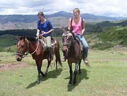 Horse riding near Cusco