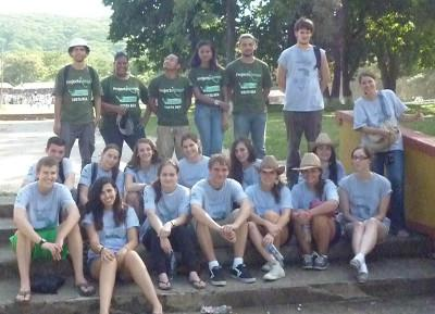 Volunteer group in Costa Rica