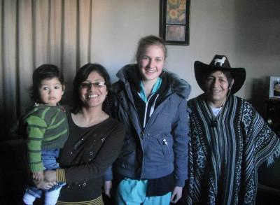 Volunteer host family Peru
