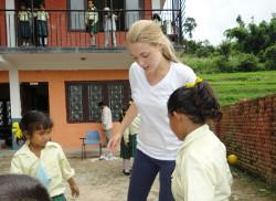 Volunteering at school in Nepal