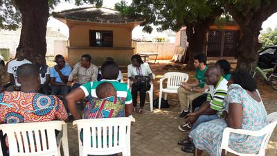 Meeting up for Human Rights discussion in Ghana