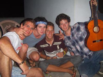 With volunteer friends