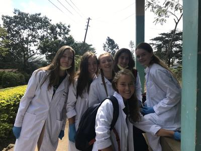 Medicine High School Special volunteers in their lab coats