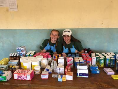 Volunteers prepare for a medical outreach