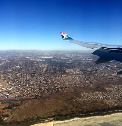 Arriving in Cape Town, South Africa