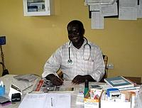 Doctor at the small clinic
