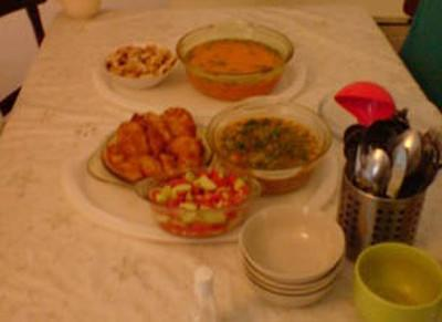 A traditional Romanian meal