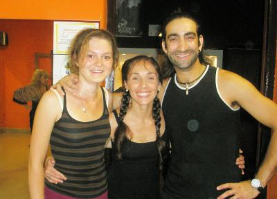With my salsa teachers