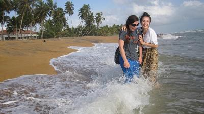 The beach in Sri Lanka
