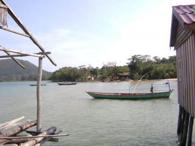 Fishing off the coast of Cambodia