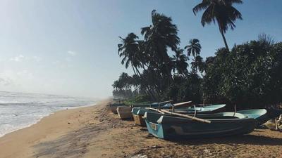 Beach views in Sri Lanka