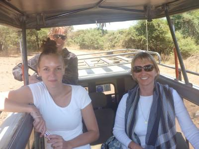 On safari with other volunteers