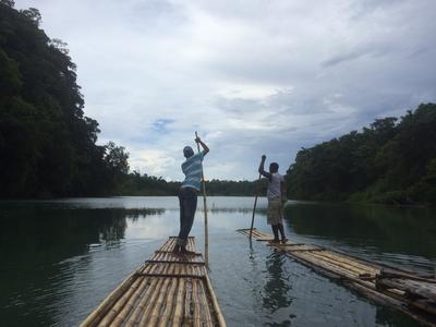 Bamboo rafting in Port Antonio in Jamaica