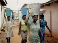 Fetching water in the Akuapem Hills