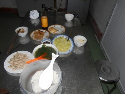 Lunch eaten by the volunteers