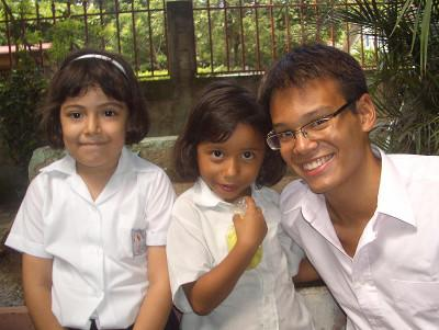 With kids from my class