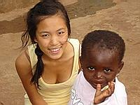 Me and child at Trinity orphanage