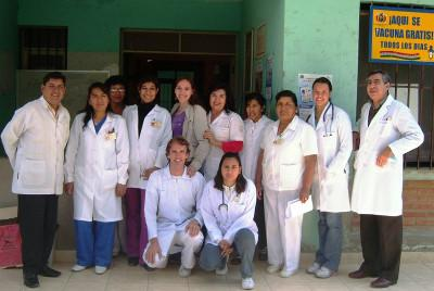 With the staff at my placement