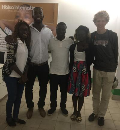 International Development volunteers at their placement