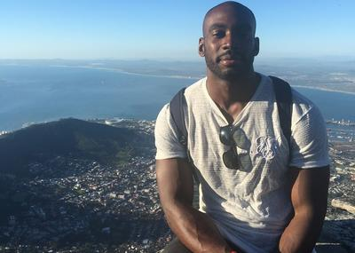 Miles during a trip up Table Mountain in Cape Town