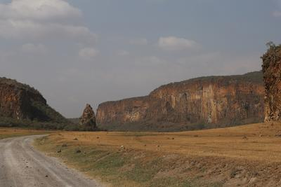 A view of Hells Gate National Park in Kenya