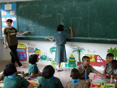 Volunteering in a school in Thailand