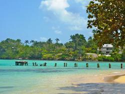 Beautiful beach in Jamaica