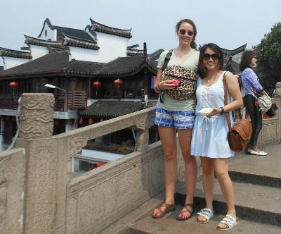 Volunteers travelling in China