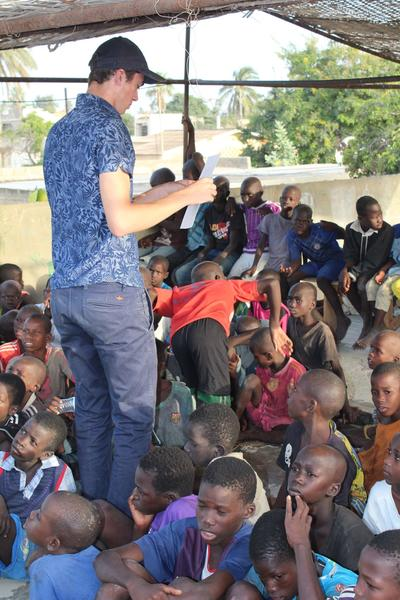 Noah teaching his students in Senegal