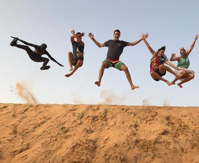 Volunteers enjoying their free time in Senegal