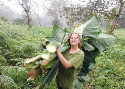 Olivia working during her Conservation Project in Ecuador