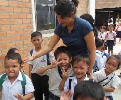 Me and school children
